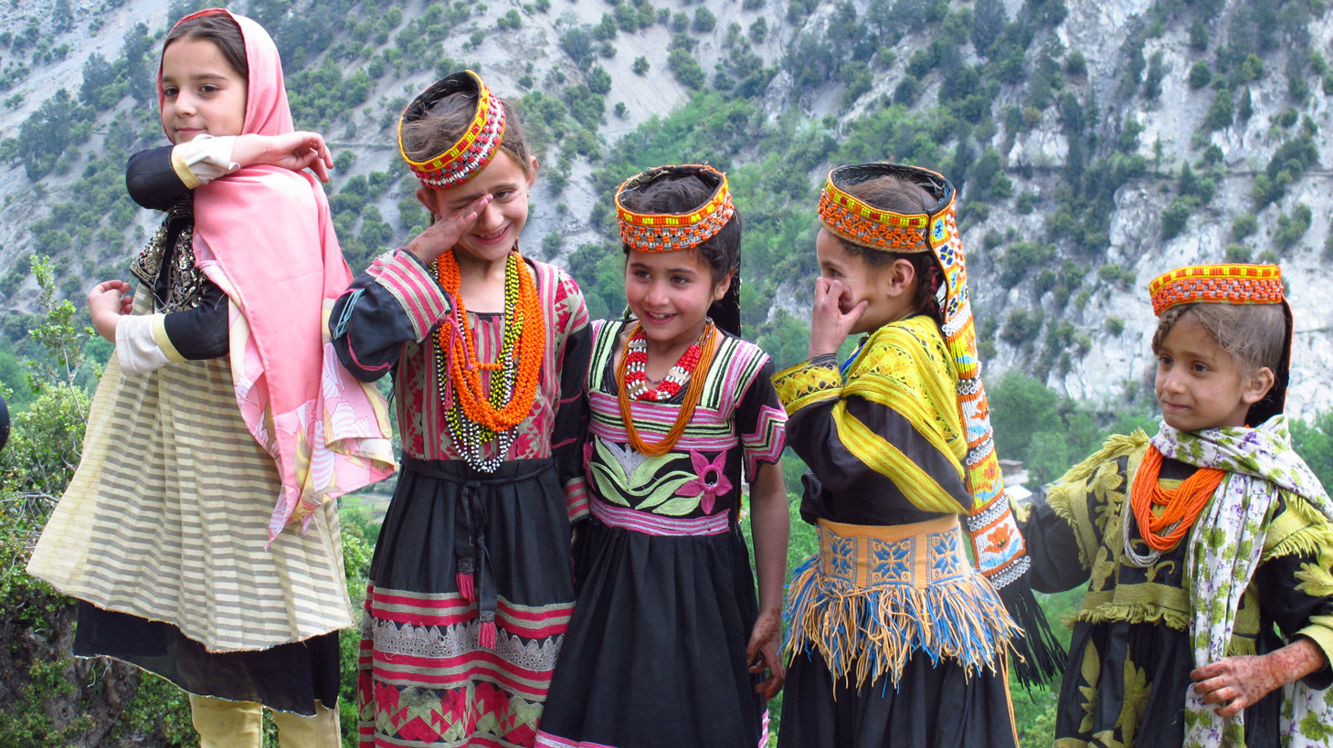 Contact US >> Kalash girls in hills | Cultures of Resistance Films
